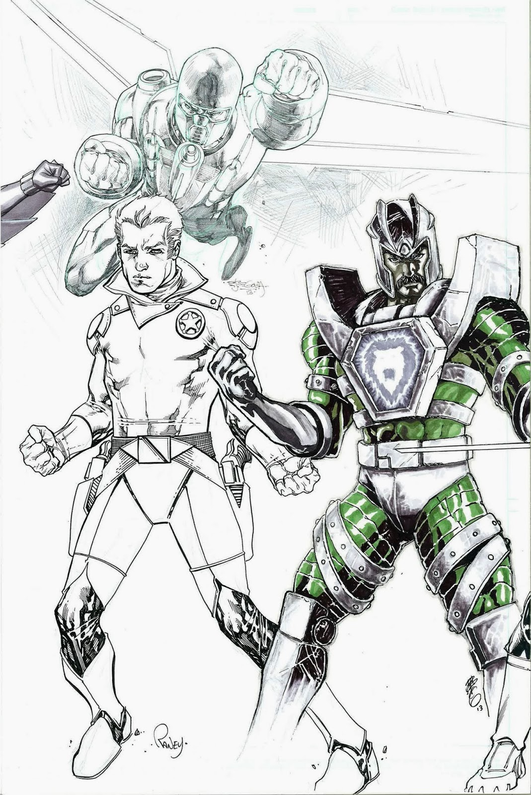 Ace McCloud (from Centurions), Shane Gooseman (from The Adventures of the Galaxy Rangers), and Leoric (from Visionaries: Knights of the Magical Light)