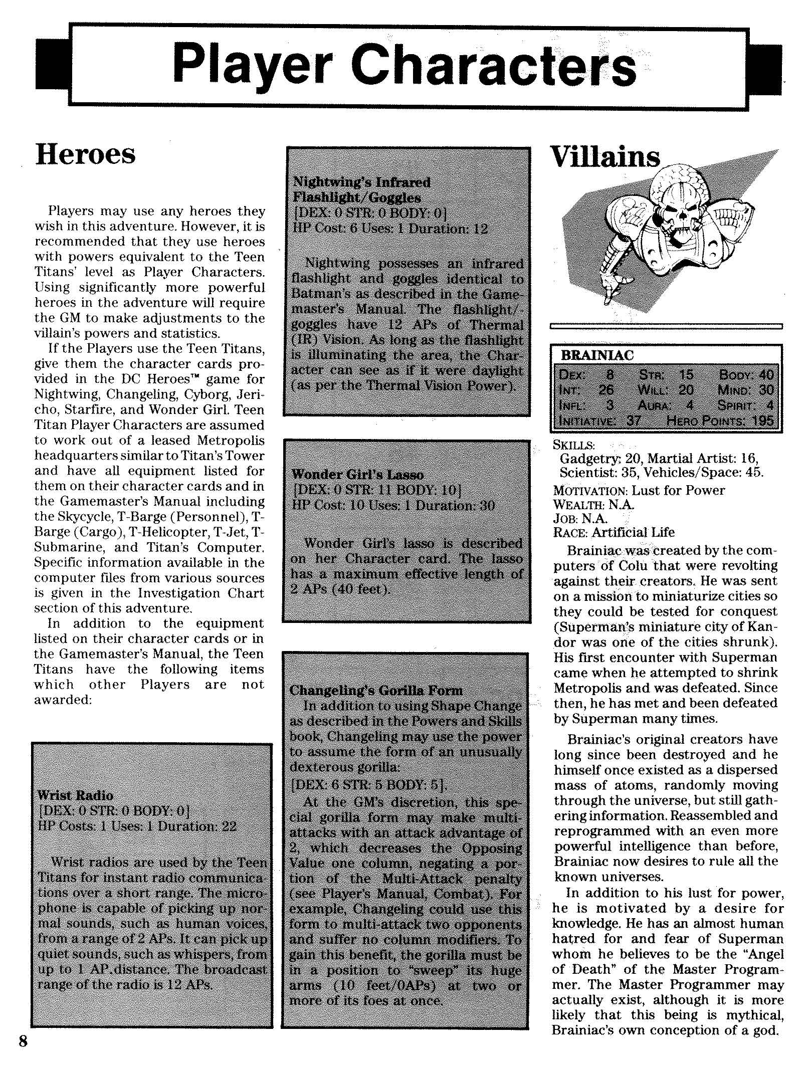 dc heroes mayfair games pdf