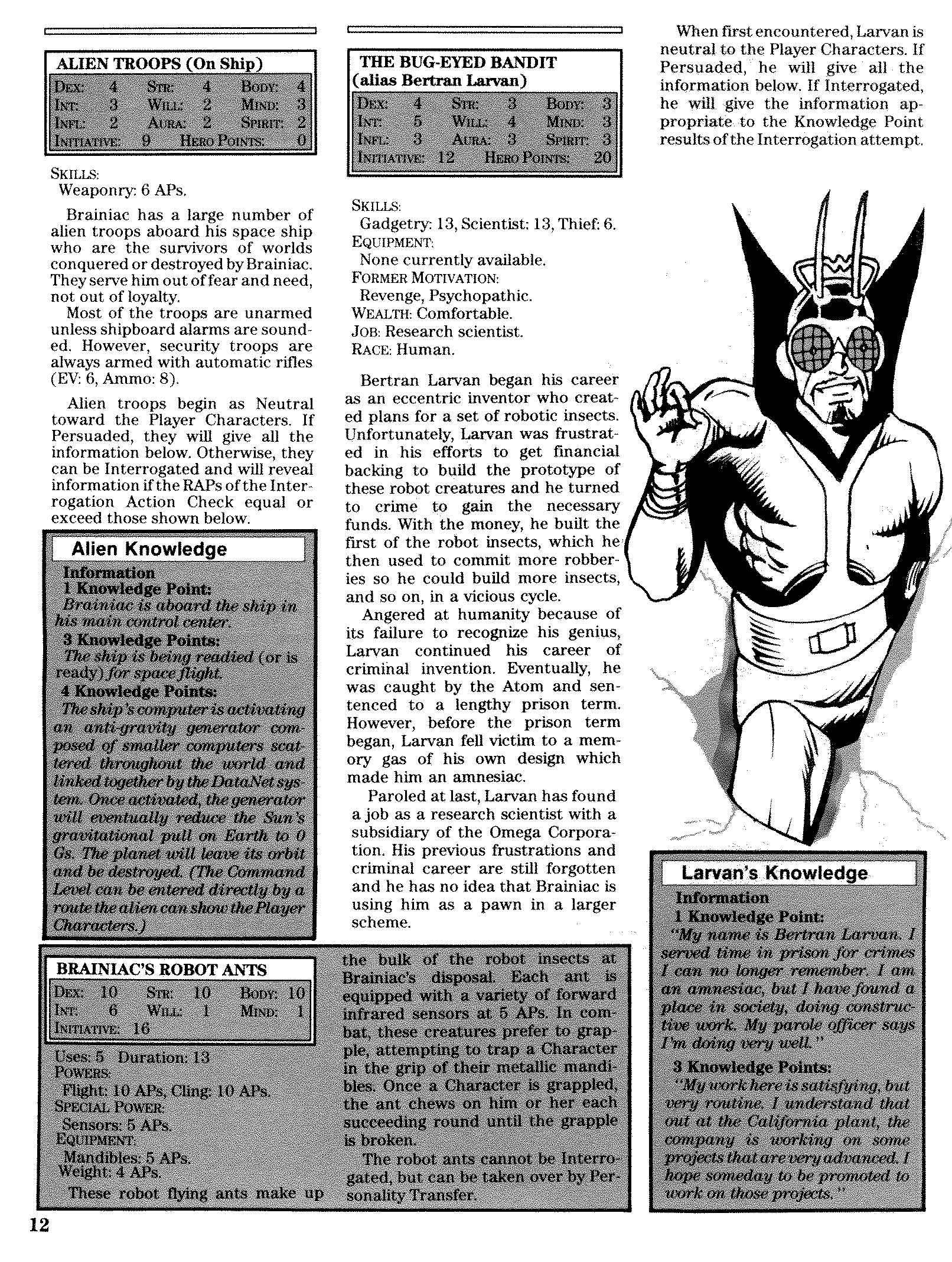 Mayfair Games DC Heroes The Doomsday Program RPG module with Brainiac!