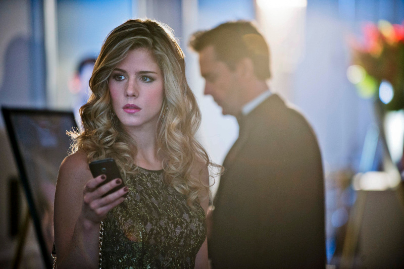 Emily Bett Rickards as Felicity Smoak on CW's Arrow