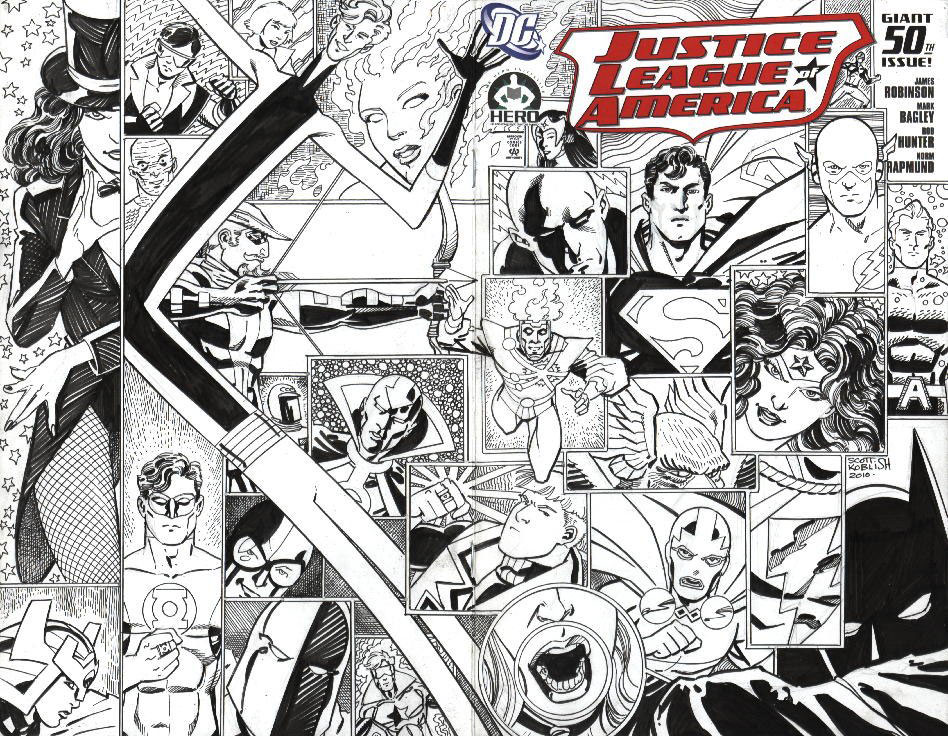 Scott Koblish Hero Initiative JLA #50 cover