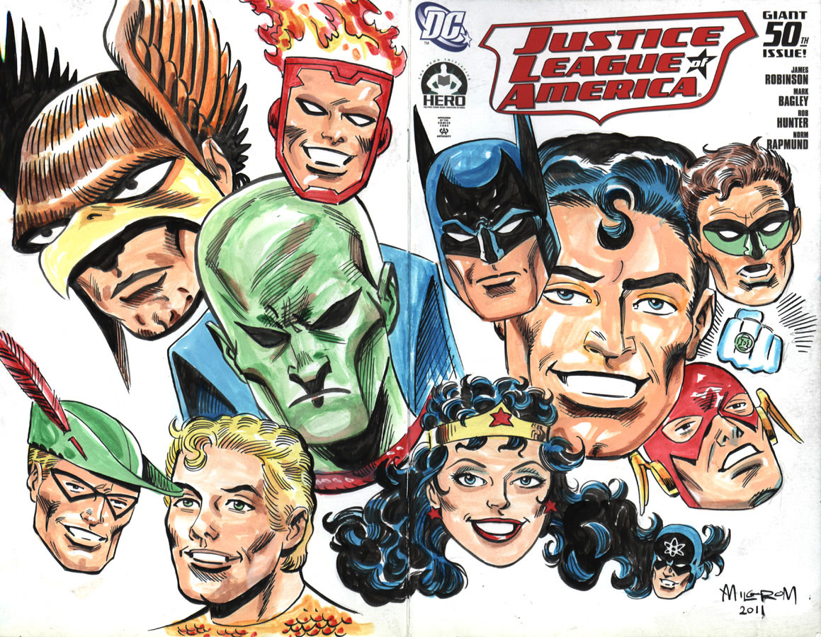 Al Milgrom Hero Initiative JLA #50 Cover