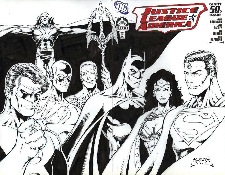 Norm Rapmund Hero Initiative JLA #50 cover