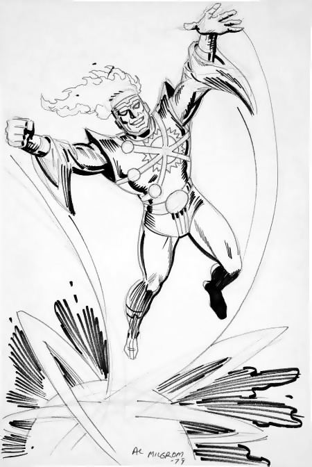 Al Milgrom Firestorm Sketch from 1979