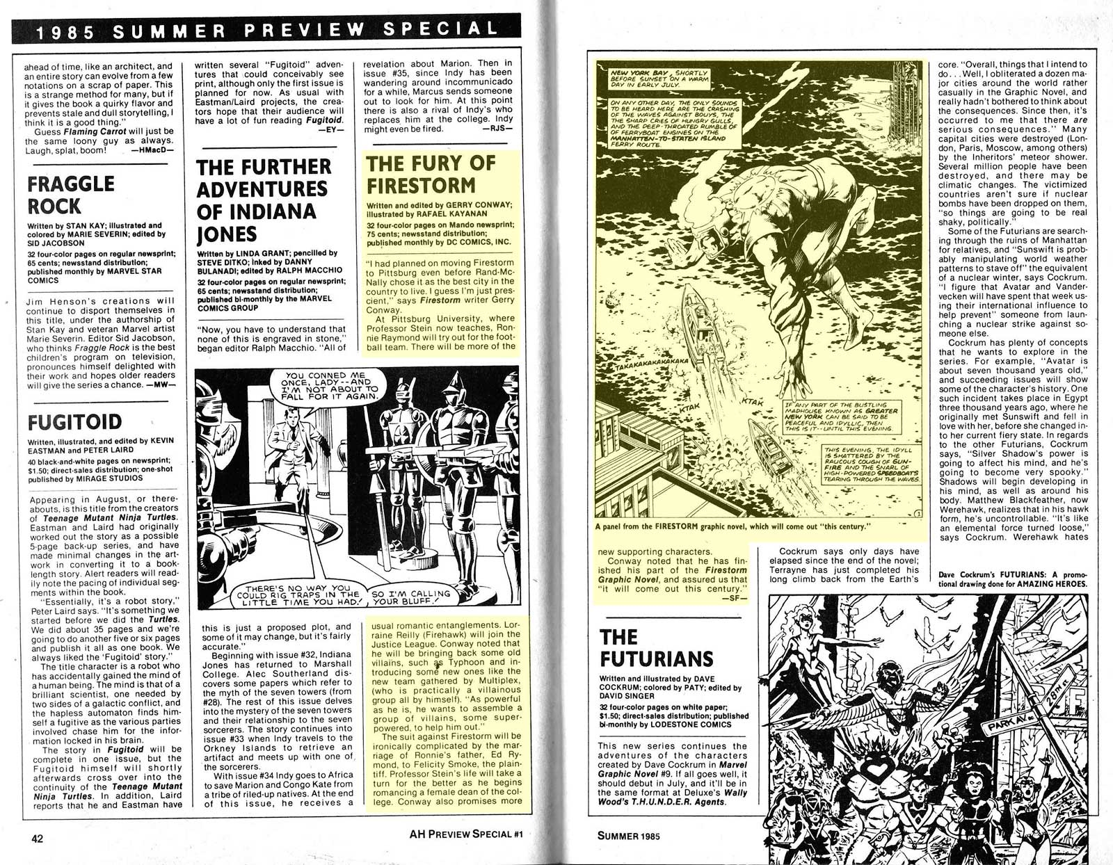 Amazing Heroes Preview Special #1 - Summer 1985 - Firestorm