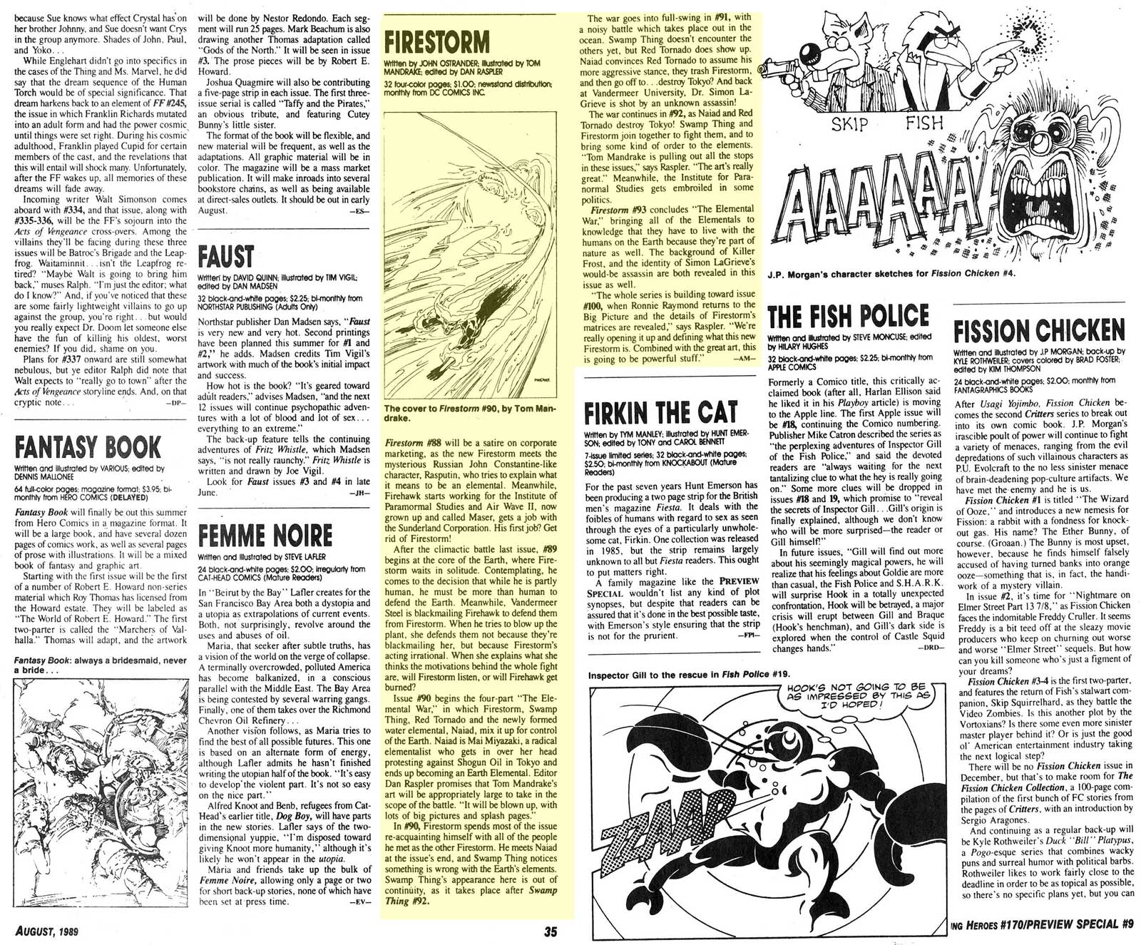Amazing Heroes #170/Preview Special #9 - August 1989 - Firestorm