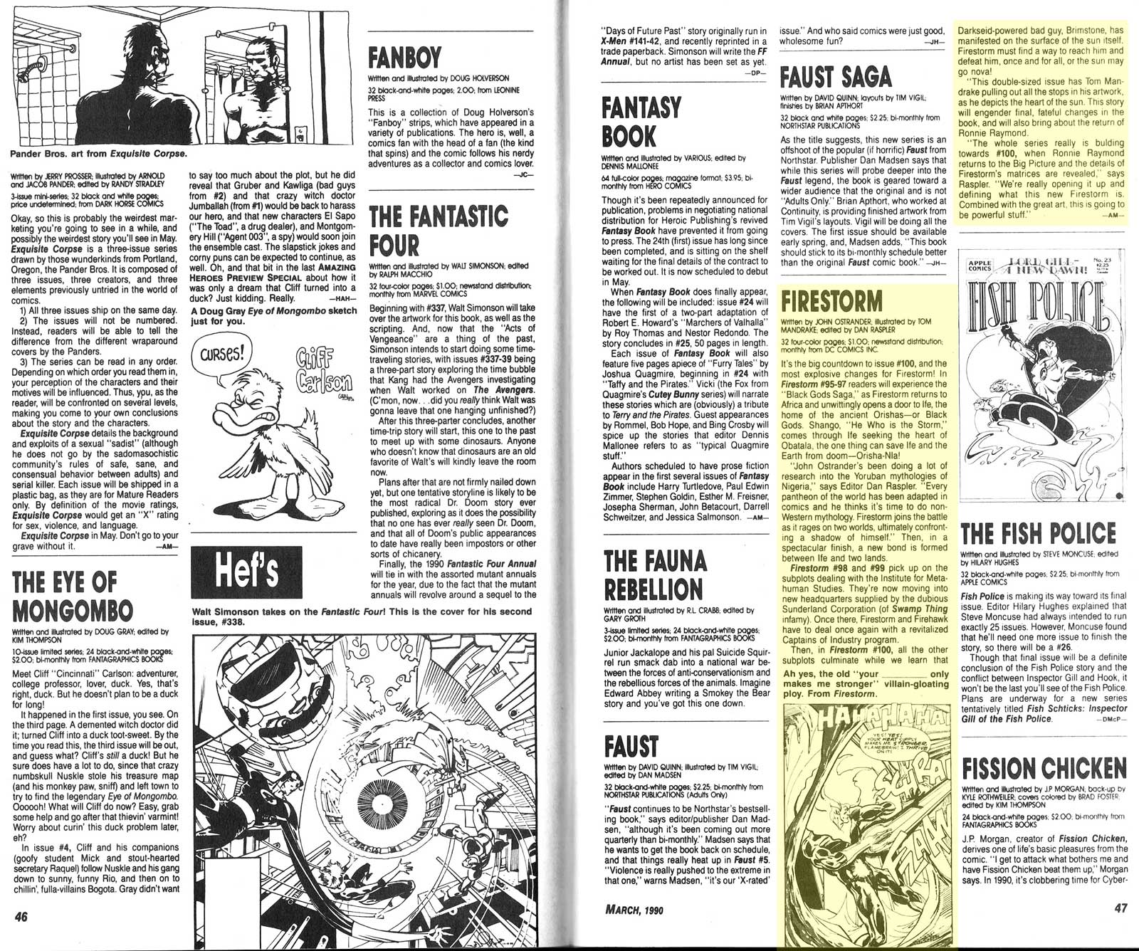 Amazing Heroes Preview Special #10 - March, 1990 - Firestorm