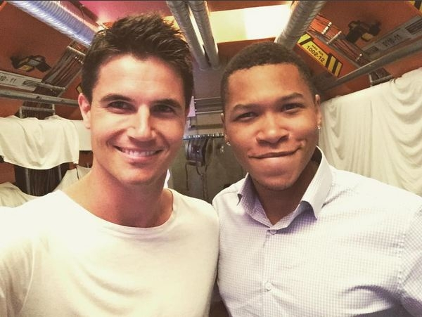 Robbie Amell and Franz Drameh - Firestorm