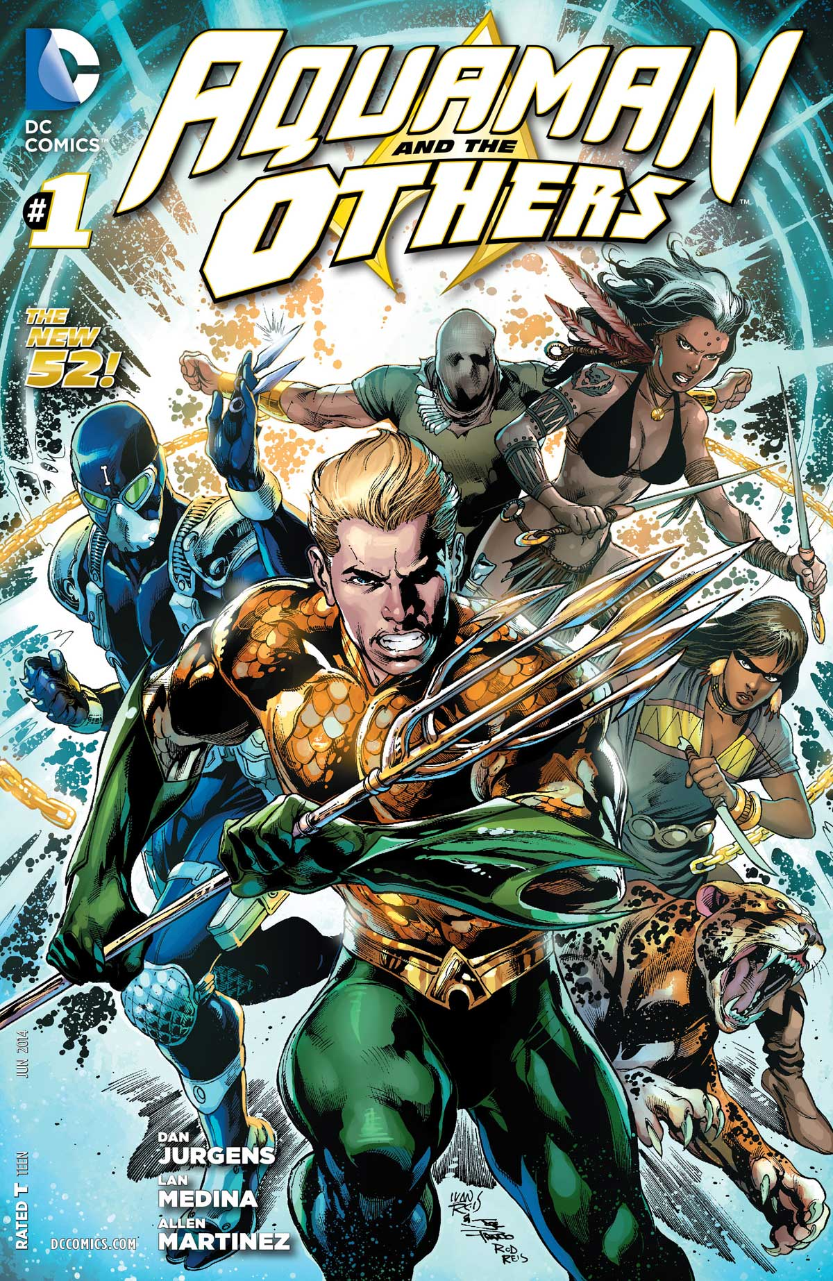 Aquaman & The Others #1 cover by Ivan Reis, Joe Prado, and Rod Reis
