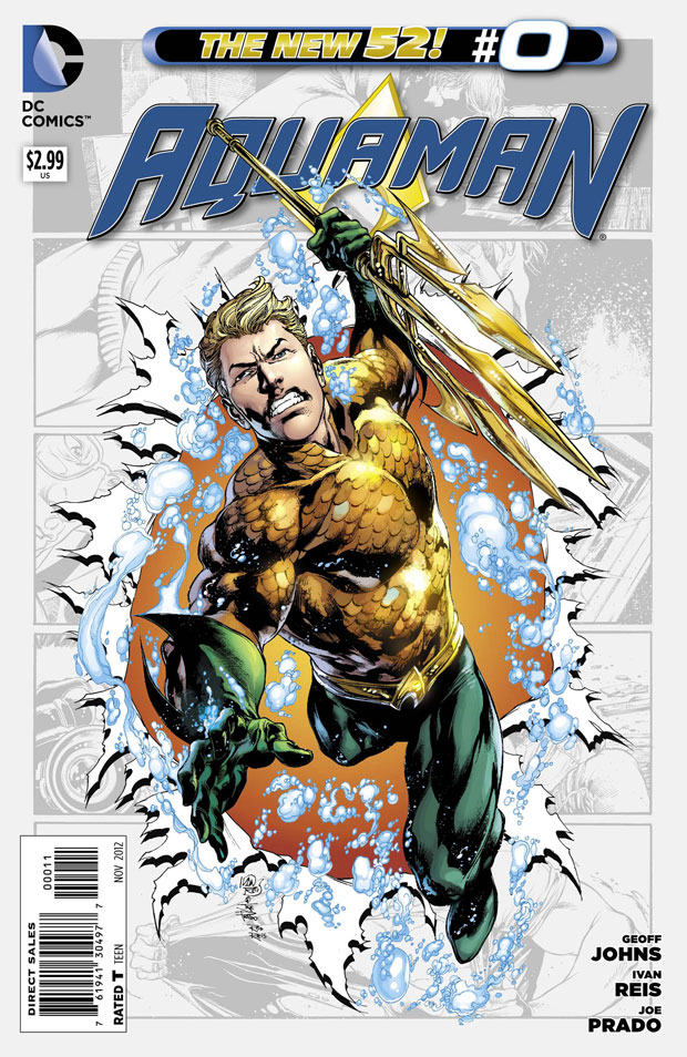 Aquaman #0 by Geoff Johns, Ivan Reis, Joe Prado, and Rod Reis
