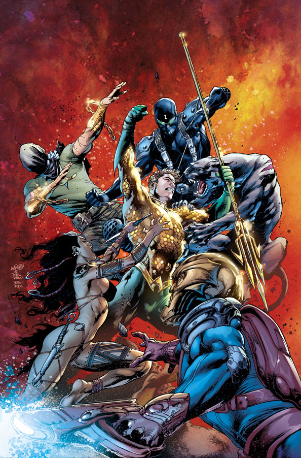 Aquaman #8 by Geoff Johns, Ivan Reis, Joe Prado, and Rod Reis
