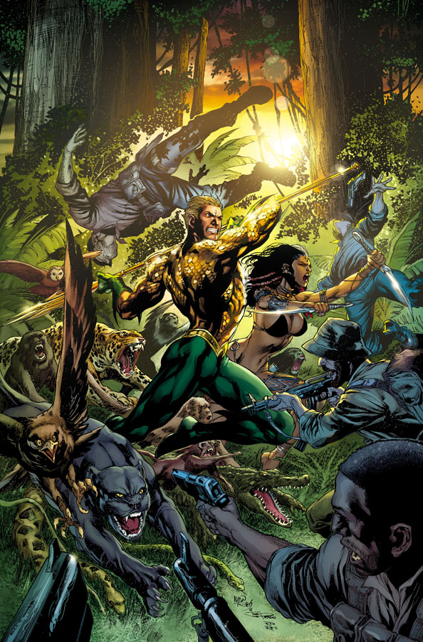 Aquaman #9 cover by Ivan Reis and Joe Prado