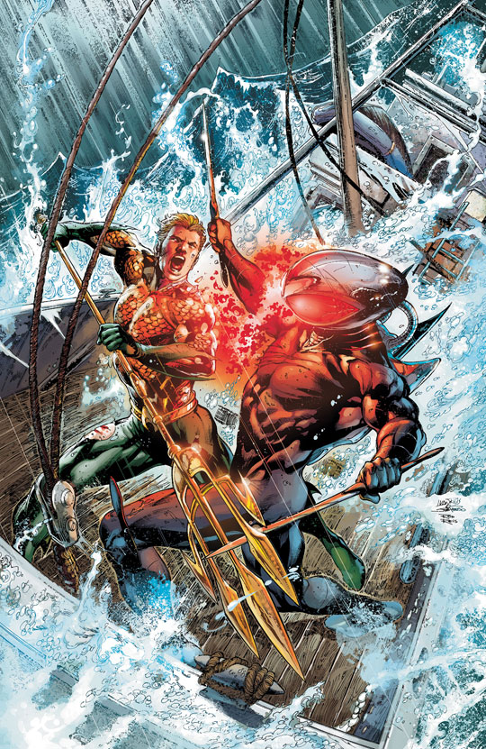 Aquaman #10 cover by Ivan Reis, Joe Prado, and Rod Reis