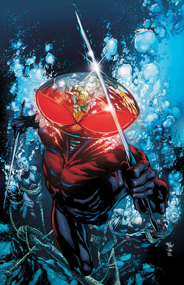 Aquaman #12 cover by Ivan Reis, Joe Prado, and Rod Reis