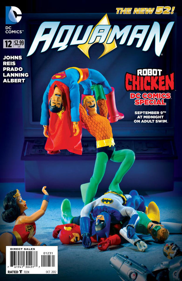 Aquaman #12 Robot Chicken Variant Cover
