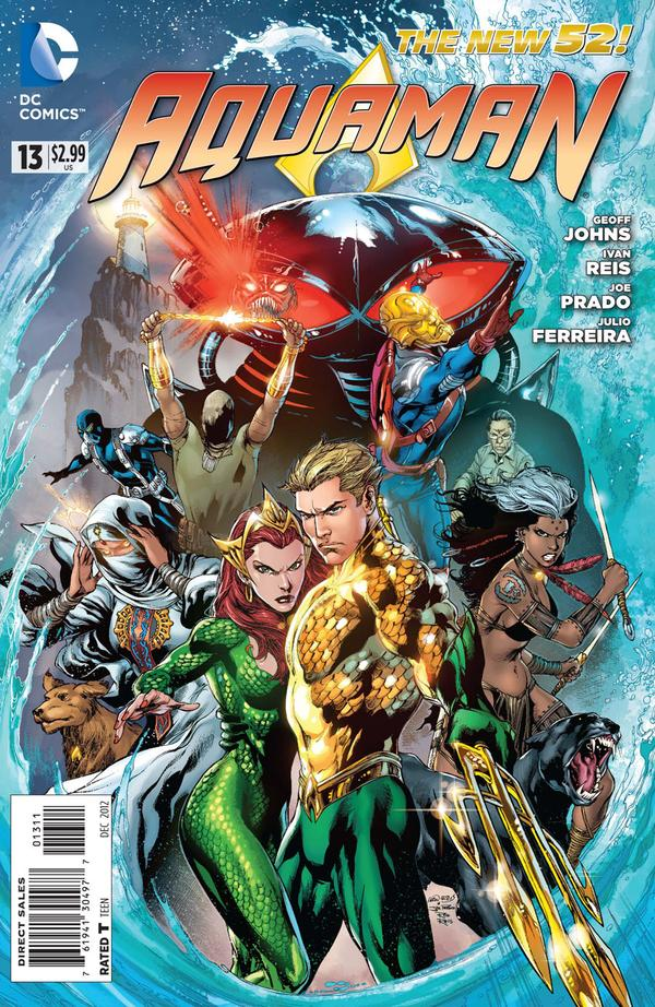 Aquaman #13 cover by Ivan Reis, Joe Prado, and Rod Reis