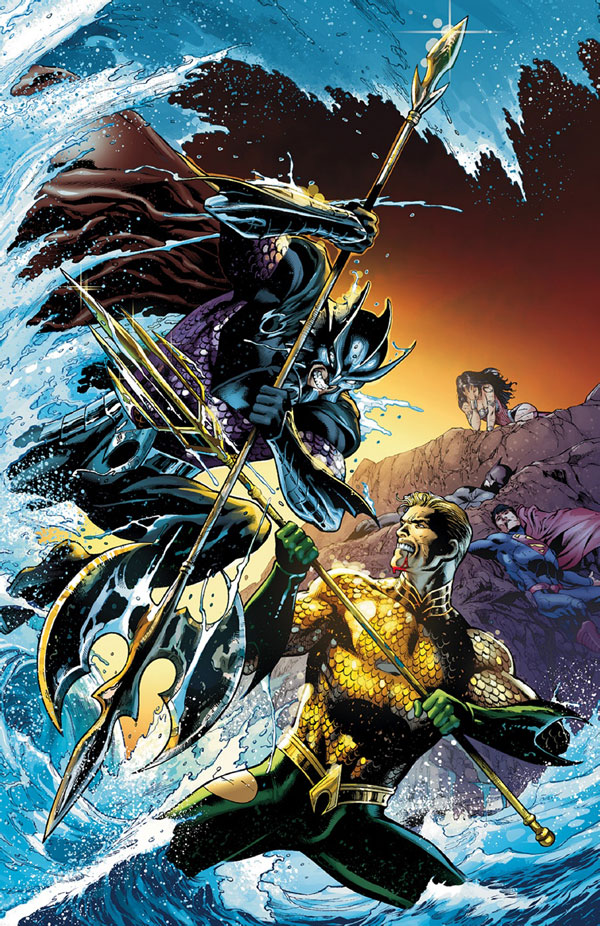 Aquaman #15 cover by Eddy Barrows, Eber Ferreira, and Rod Reis