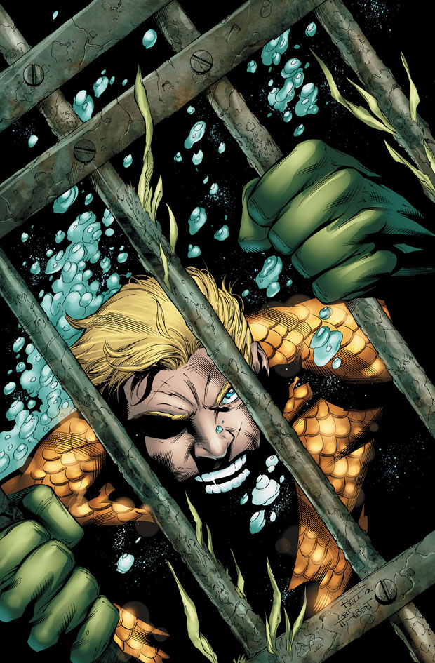 Aquaman #17 cover by Paul Pelletier and Art Thibert