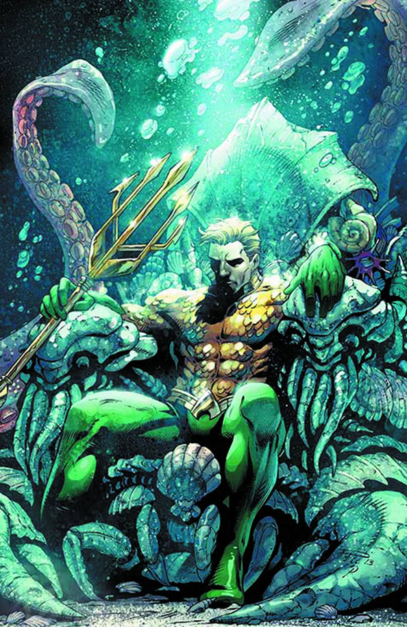 Aquaman #18 cover by Paul Pelletier and Sean Parsons