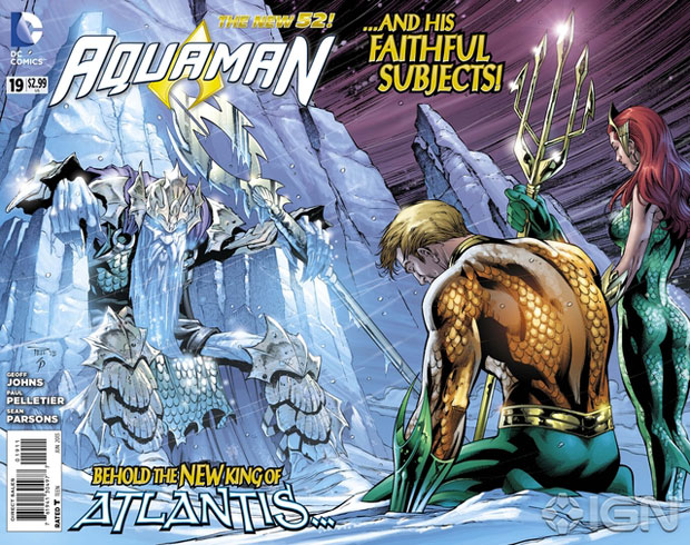 Aquaman #19 cover by Paul Pelletier