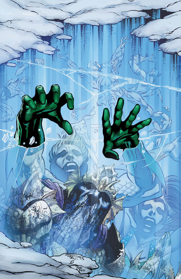Aquaman #21 cover by Paul Pelletier, Sean Parsons, and Rod Reis