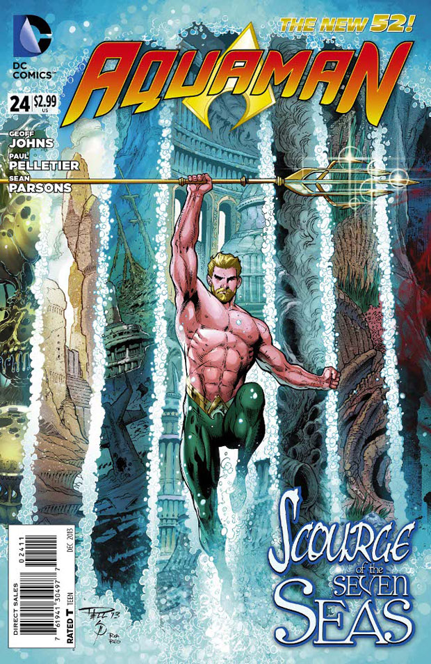 Aquaman #24 cover by Paul Pelletier, Sean Parsons, and Rod Reis!