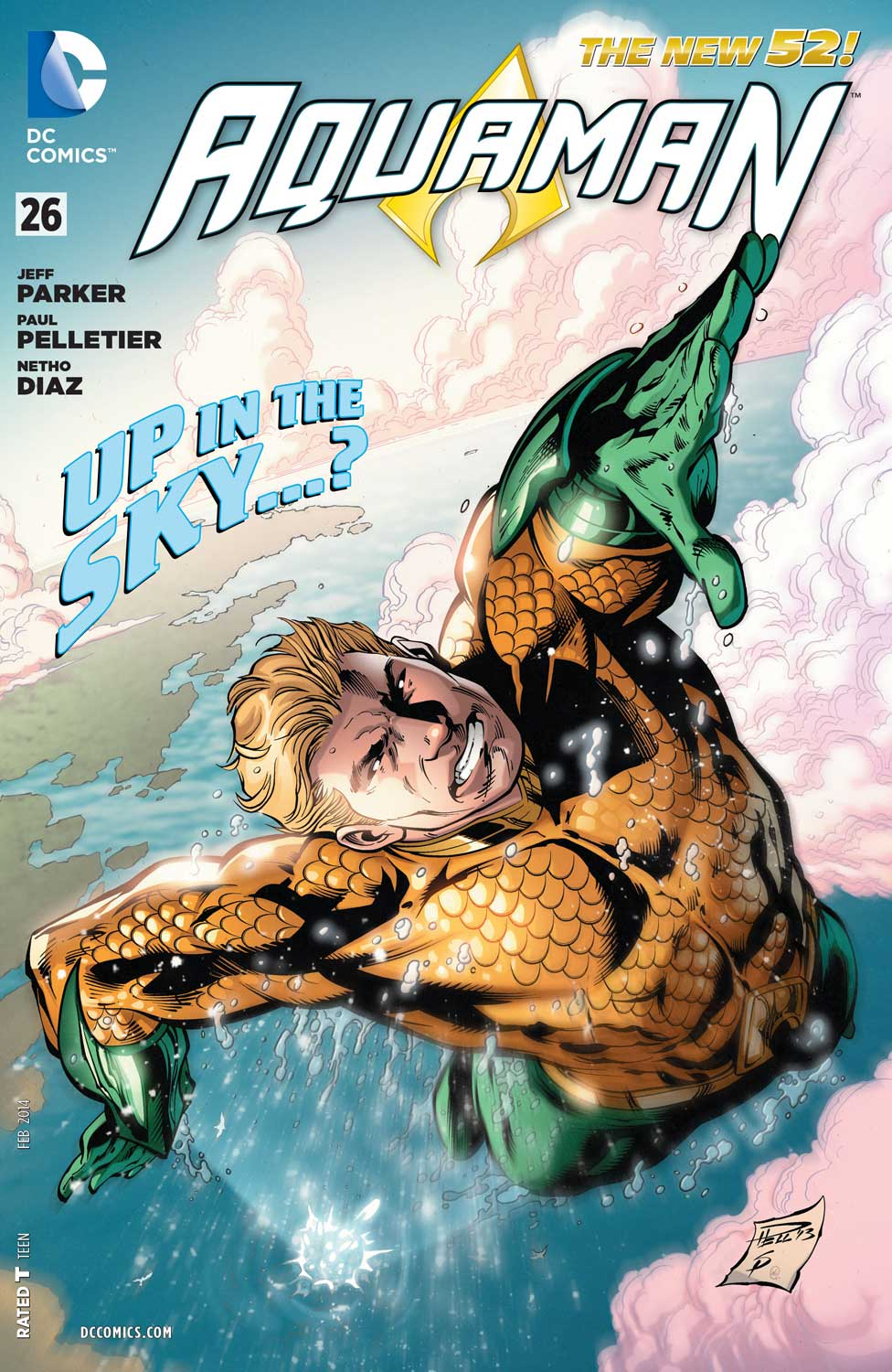 Aquaman #26 cover by Paul Pelletier and Sean Parsons