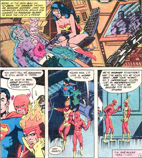 Aquaman and Firestorm - Unresolved Issues - Justice League of America #193