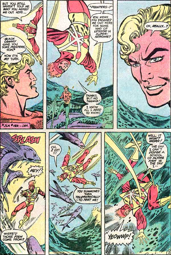 Aquaman and Firestorm - Unresolved Issues - Justice League of America #203