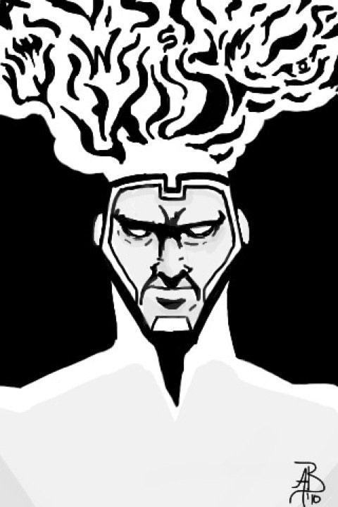 Firestorm with JLA Symbols by Avery Barnes