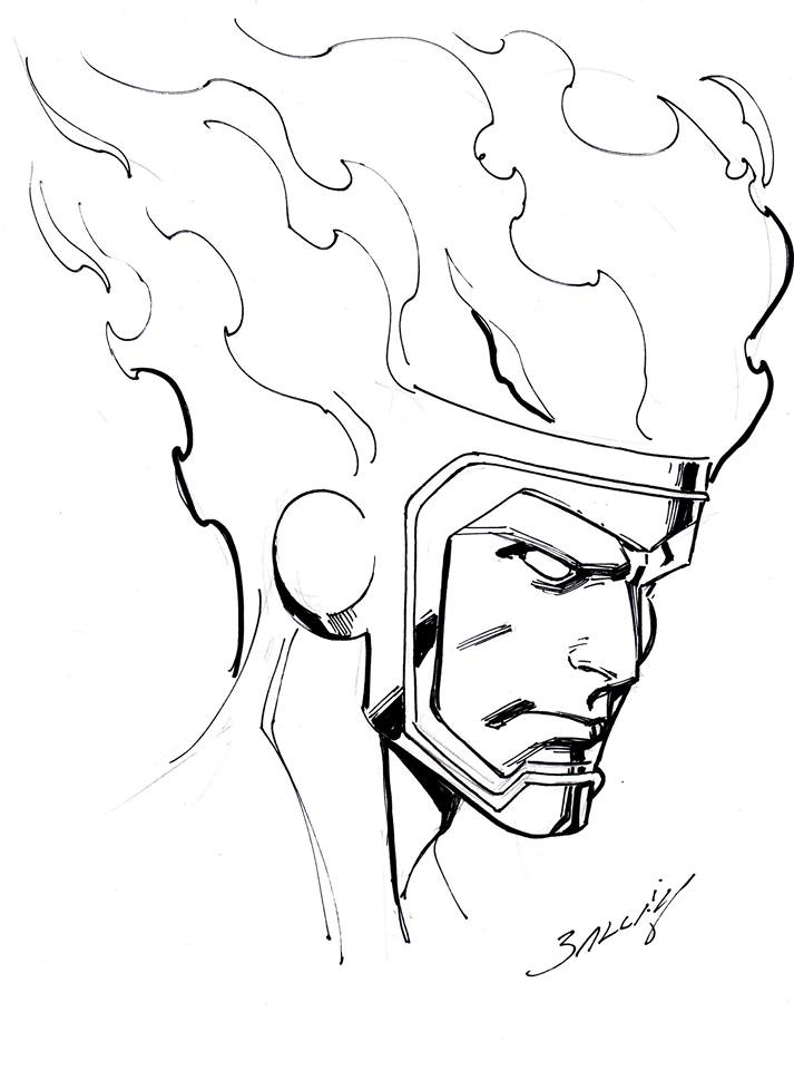 Firestorm sketch by Mark Bagley