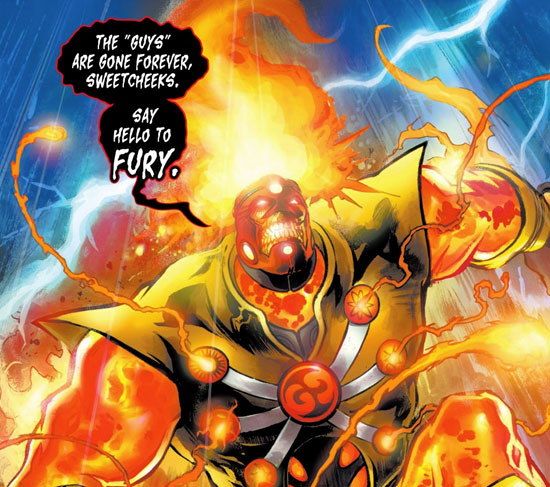 Fury - Firestorm word balloon