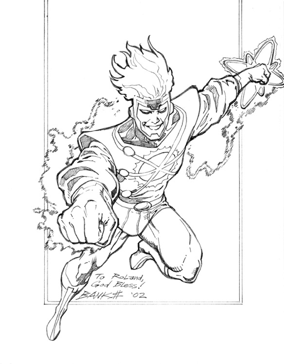 Darryl Banks drawing of Firestorm