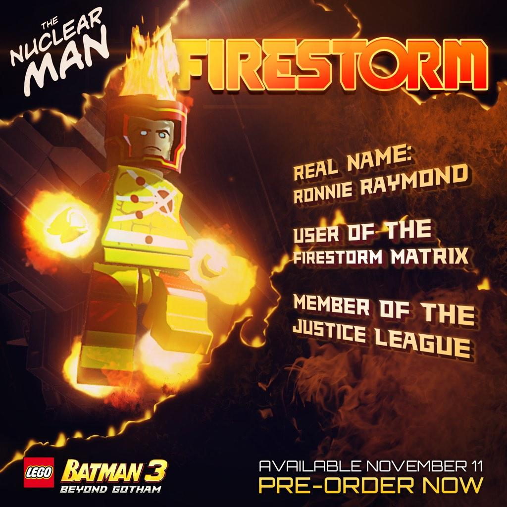 Firestorm in Lego Batman 3 Beyond Gotham