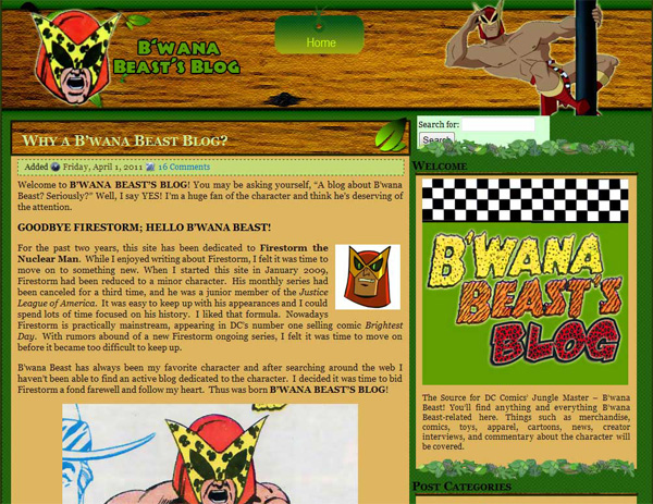 Firestorm Fan on April Fool's Day - B'wana Beast's Blog