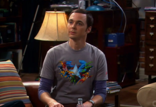Big Bang Theory - Sheldon wears Firestorm