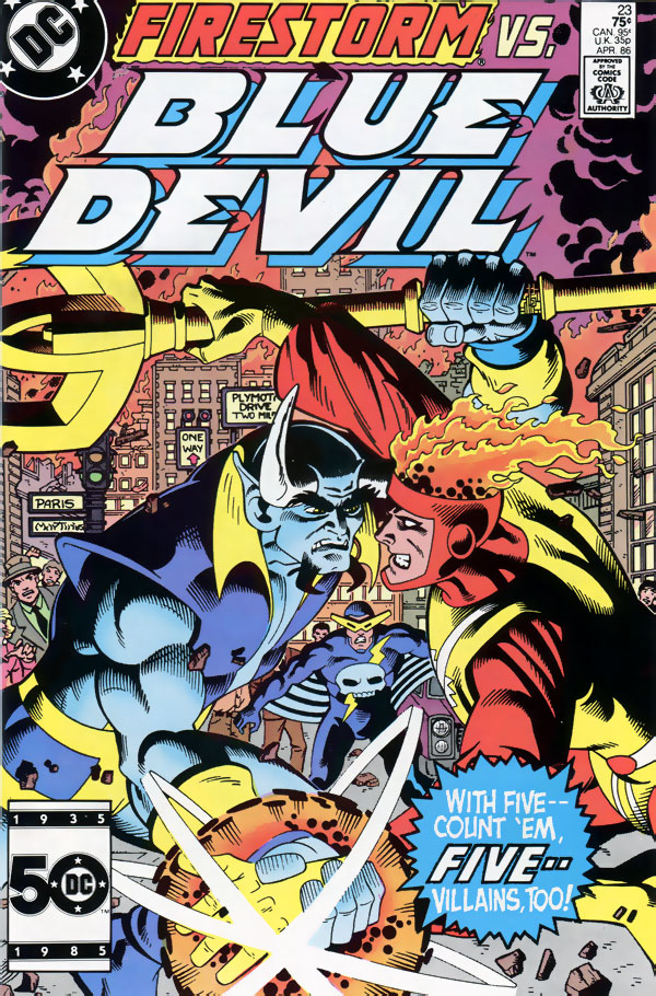 Blue Devil #23 cover by Paris Cullins and Gary Martin