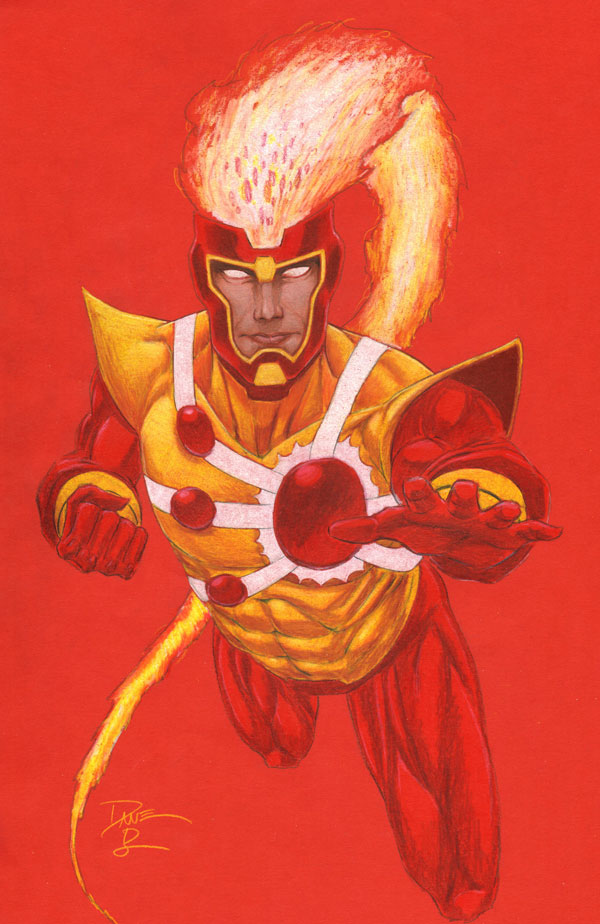 Dave Beaty colored sketch of Firestorm