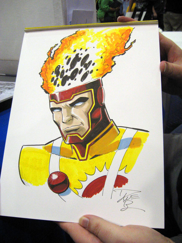 Firestorm colored sketch by Dave Beaty