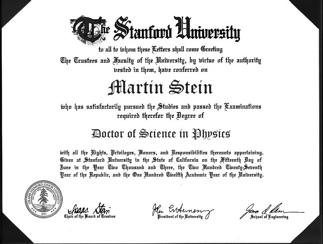Professor Martin Stein's Doctorate of Physics from Brightest Day by Dave Beaty