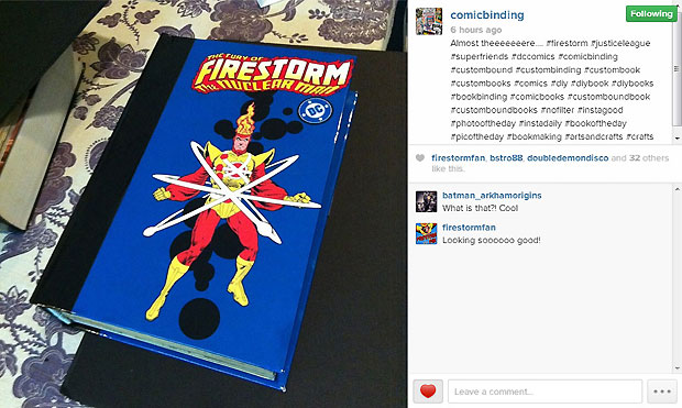Firestorm Custom Comic Binding