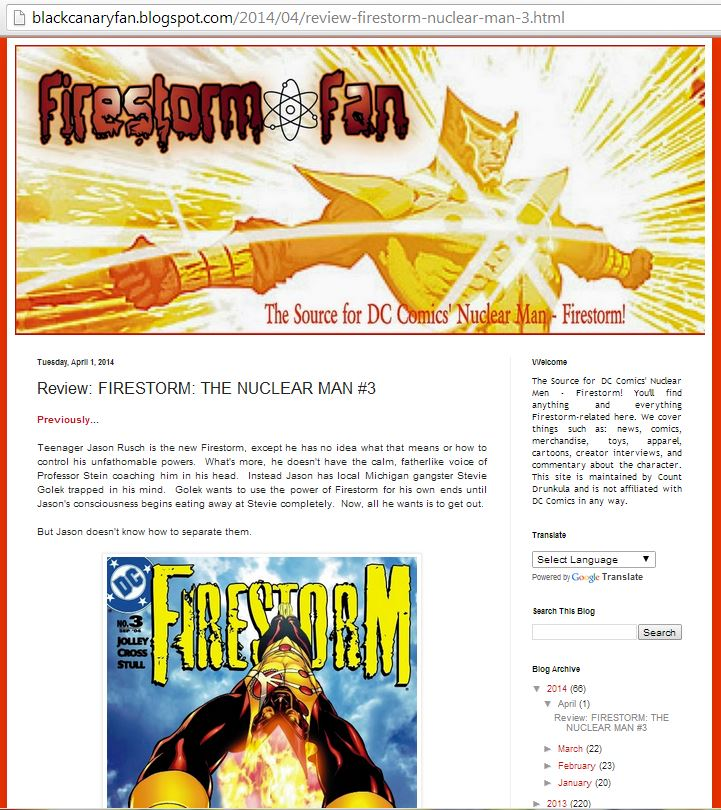 Flowers & Fishnets: A Black Canary Blog redesigned as Firestorm Fan