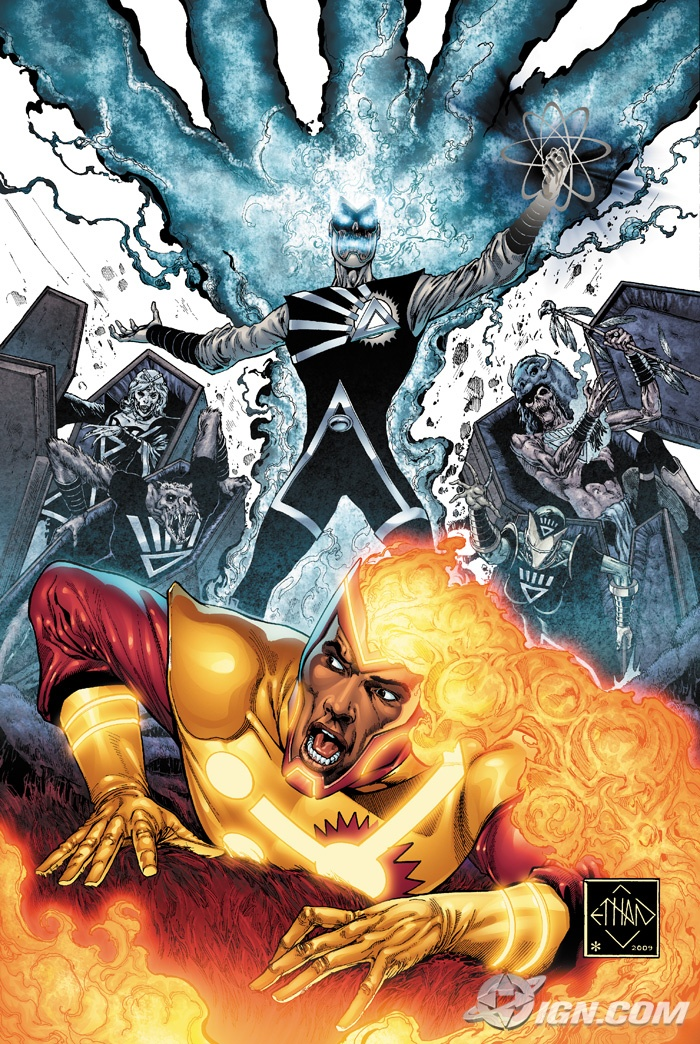 Blackest Night #3 Firestorm cover by Ethan Van Sciver