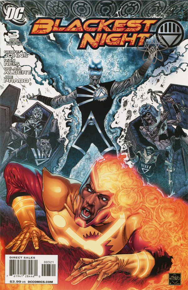 Blackest Night #3 variant cover by Ethan Van Sciver