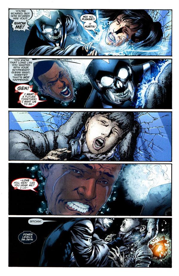Blackest Night #3 - Firestorm vs Black Lantern Firestorm