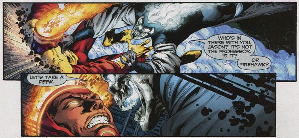 Firestorm vs Black Lantern Firestorm from Blackest Night #3
