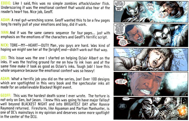 Blackest Night Director's Cut - Geoff Johns on Gehenna's Death
