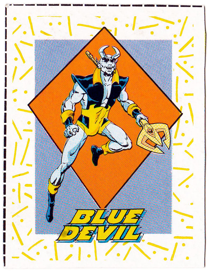 Blue Devil 1989 Great Heroes trading cards