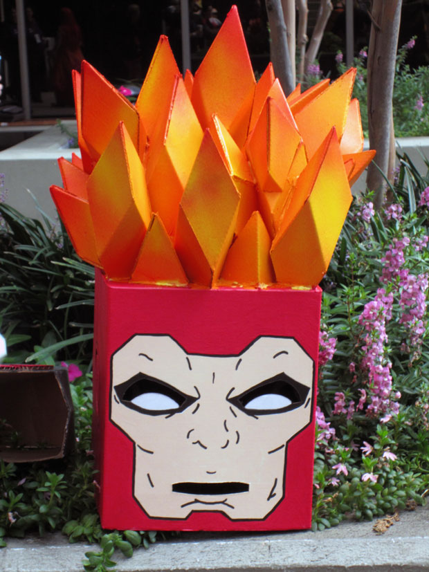 Decapitated Firestorm Box Hero cosplay from DragonCon 2012