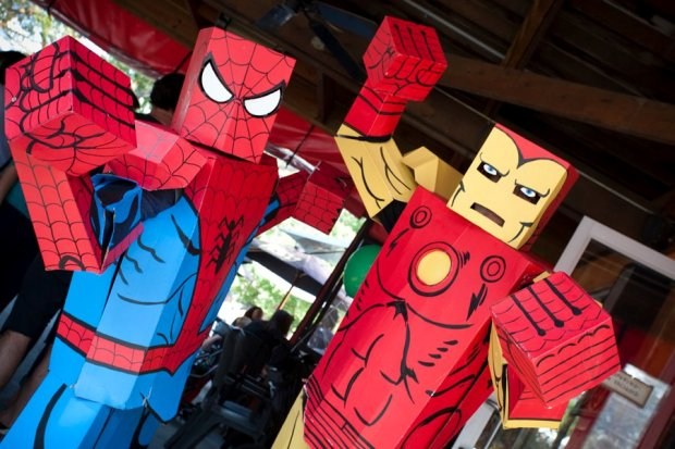 Spider-Man and Iron Man box heroes